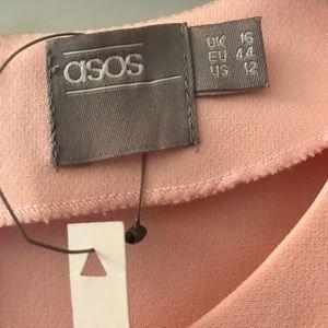 ASOS Pale Pink Asymmetrical Hem Dress NWT